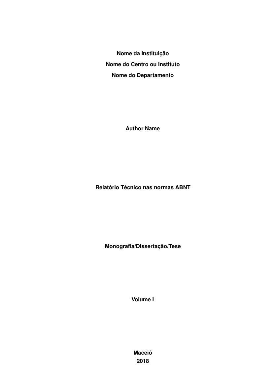 relatório técnico nas normas abnt fastformat85661 Elaboracao De Relatorios Tecnicos #6