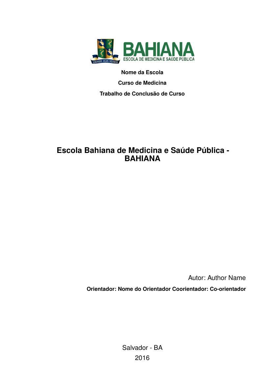 Monografia saude publica