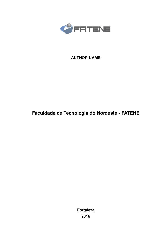TRABALHO FACULDADE PDF DOWNLOAD