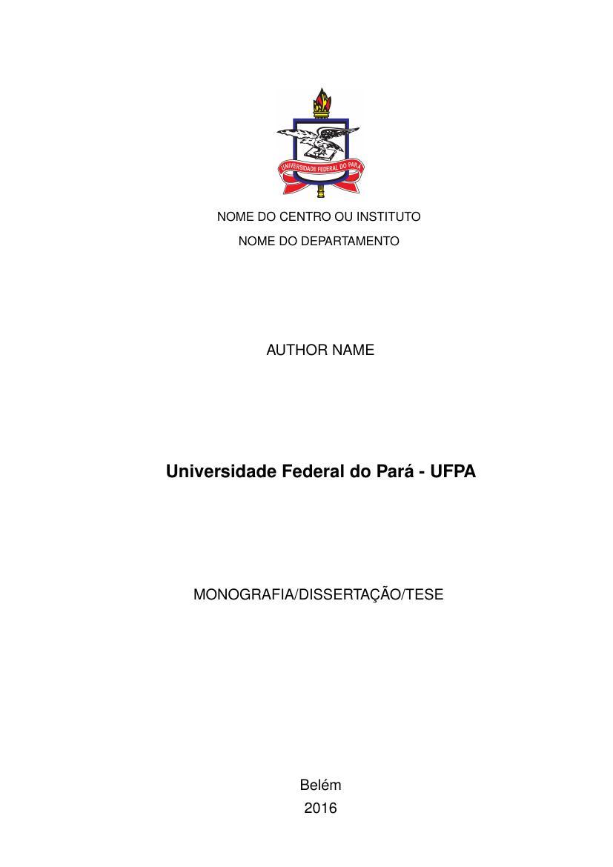 Universidade Federal Do Par 225 Ufpa Fastformat